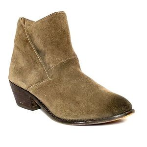 Adam Tucker Zeus Brown Cap Toe Leather Booties